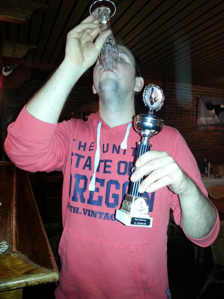De winnaar 2015 Richard de Roo