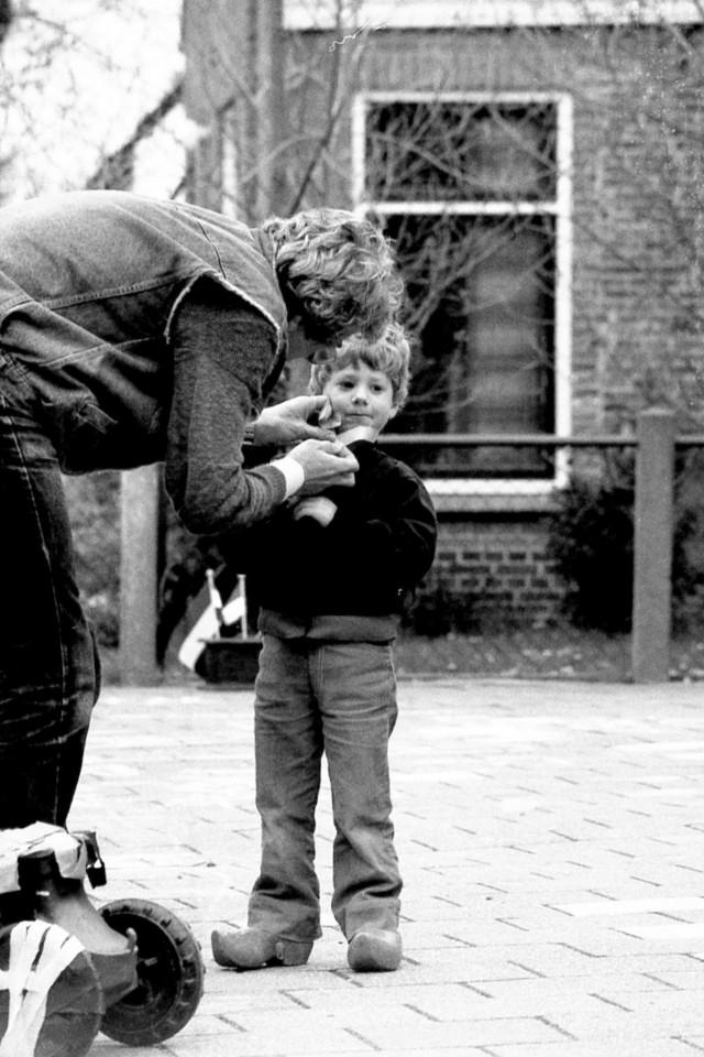 Han Heesterman en zoon Casper(?)