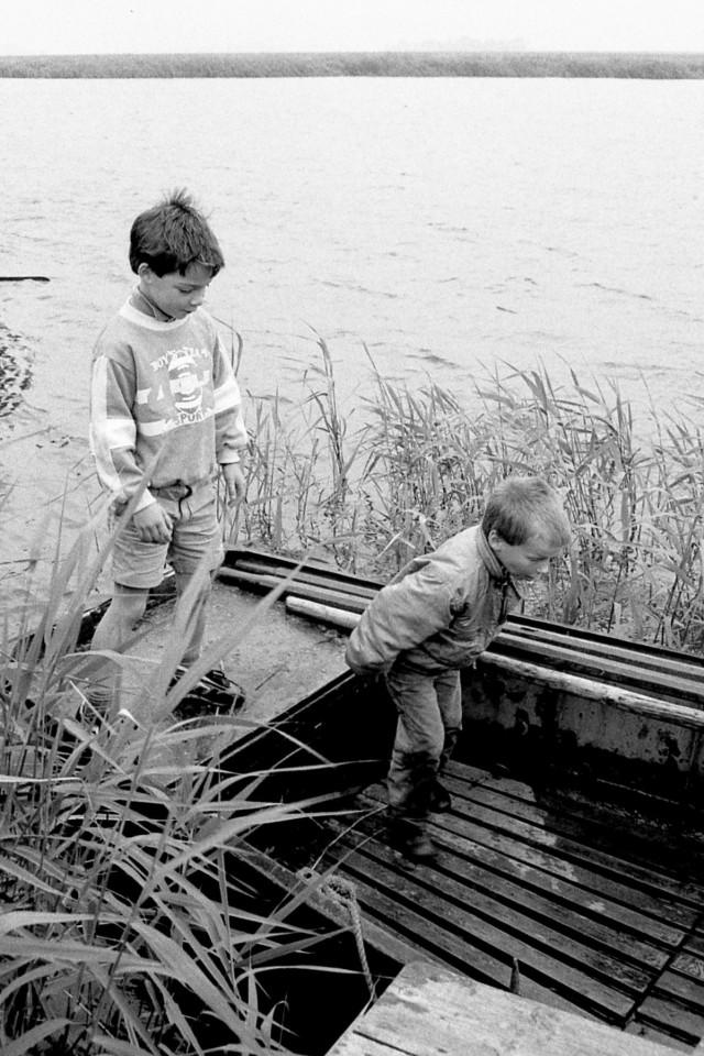 Roos en Thomas op het bootje