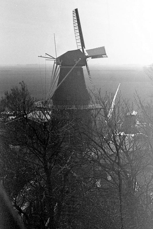 De molen vanaf de toren gezien