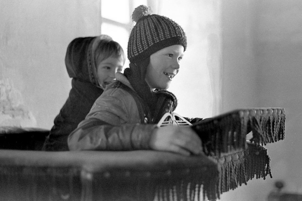 Jasper en Harry op de preekstoel (foto 2)