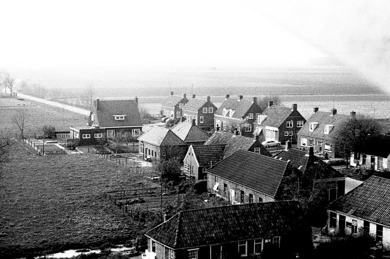 Eind van het dorp, in de begin 80er jaren