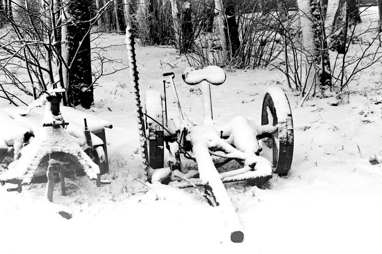 Oude maaimachine in de boomsingel van Pollux (foto 2)