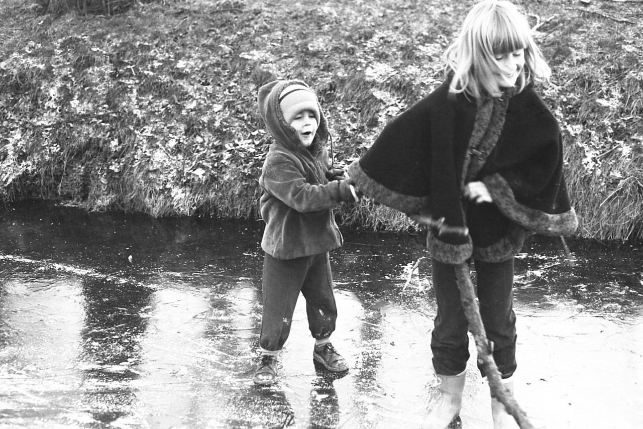 Jasper en Helena op het ijs van Pollux
