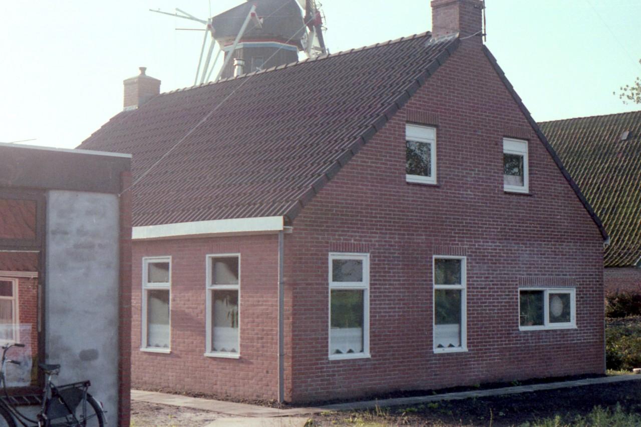Eindresultaat van de herbouw achter het café van Klaas en Simone (midden jaren 80)